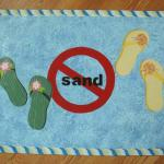 no sand, rope border