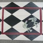 Chesapeake Crab, b/w tile, interior border